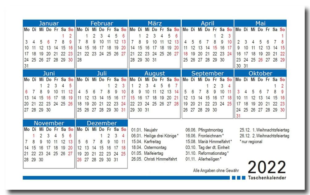Foto-Kalender 2022 blau LH