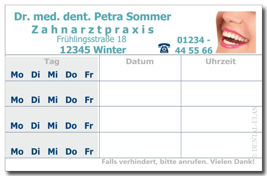 Foto_Terminkarte_Mund_Zahnarzt_Praxis_4_Rueckseite_blautürkis_Dental_Elan_LHAB2