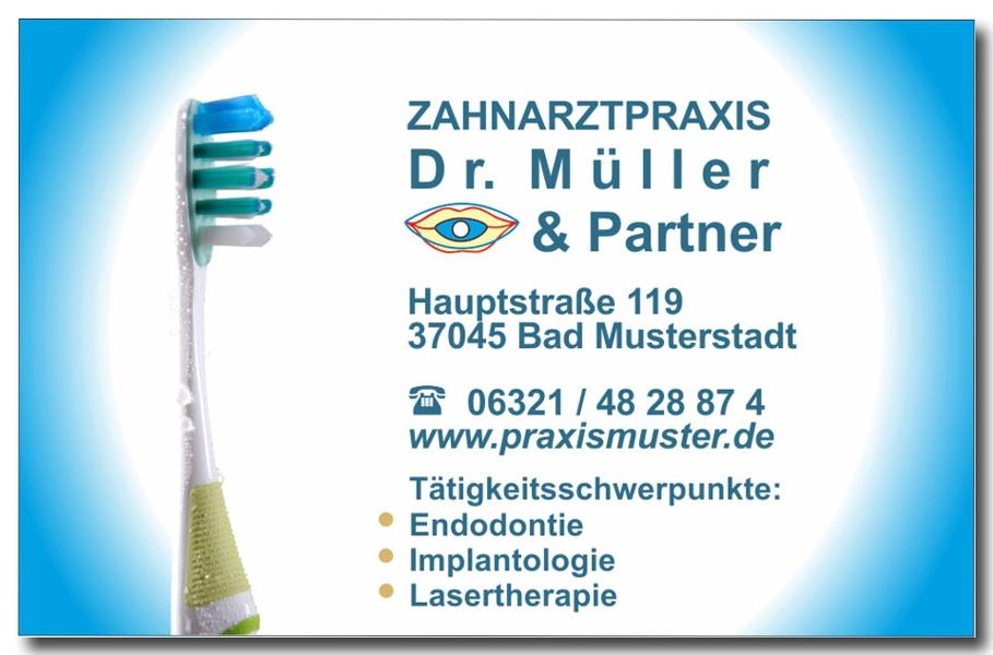 Visitenkarte_Zahnarztpraxis_Zahnbuerste_Foto_Hechel_Dental_Elan_ LH