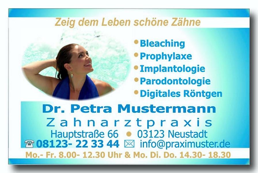 Visitenkarten_Zahnarztpraxis__Motiv_Happy_Smile_Wasserfall_Foto_Hechel_Dental_Elan_